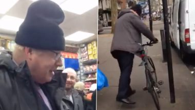 Old Video of 'Mayor' Boris Johnson Shopping at Milad Supermarket in London and Using a Bicycle Goes Viral Again