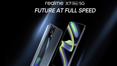 Realme X7 Max 5G India Launch Set for May 31, 2021