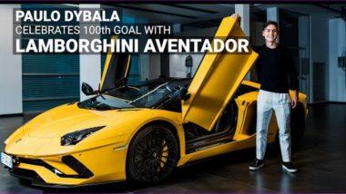 Paulo Dybala Celebrates 100th Goal for Juventus With Lamborghini Aventador S Roadster