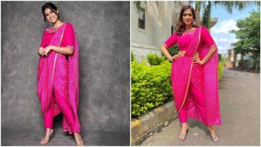 Fashion Faceoff: Shweta Tiwari or Sai Tamhankar, Who Nailed this Hot Pink Pre-Draped Saree Better?