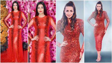 Fashion Faceoff: Aishwarya Rai Bachchan or Malaika Arora, Whose Red Atelier Zuhra Outfit Is Your Favourite?