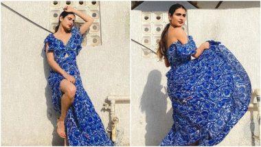 Fatima Sana Shaikhs's Blue Silk Maxi Dress Can Be Yours For 23000!