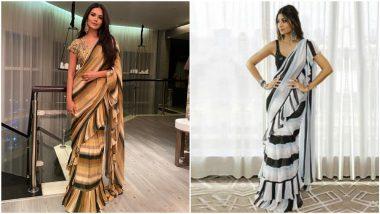 Fashion Faceoff: Esha Gupta or Shilpa Shetty - Whose Arpita Mehta Saree is Your Favourite?