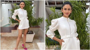 Rakul Preet Singh's White Playsuit Looks Pristine and Powerful at the Same Time (View Pics)