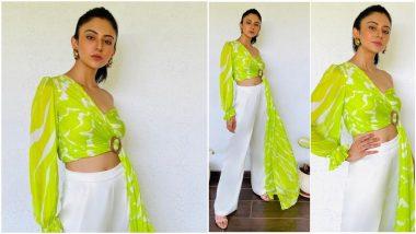 Rakul Preet Singh Gives a Neon Spin to Her Charming Promotional Wardrobe for Sardar ka Grandson (View Pics)