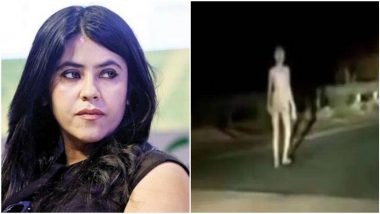 Ekta Kapoor Shares Spooky Video of Mysterious Alien-Like Creature Walking on Road at Night Allegedly From Hazaribagh, Jharkhand