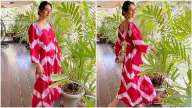 Yo or Hell No? Rakul Preet Singh's Red Tie-Dye Dress For Sardar ka Grandson Promotions By Jodi