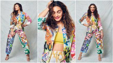 Yo or Hell No? Huma Qureshi's Printed Pantsuit for Maharani Promotions