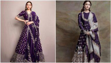 Fashion Faceoff: Alia Bhatt or Aditi Rao Hydari - Whose Traditional Purple Outfit Will You Pick?