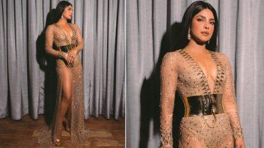 Priyanka Chopra Looks Breathtakingly Beautiful in Custom-Made Sheer Nude Dolce and Gabbana Dress at Billboard Music Awards; See PHOTOS
