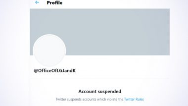 Official Twitter Account of LG of Jammu and Kashmir, Manoj Sinha, Suspended; J&K Police Say 'Technical Issue'