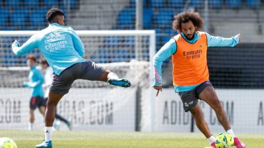 Real Madrid Sweats it Out For La Liga 2021 Match Against Granada as the Title Race Still Remains Open (See Pics)