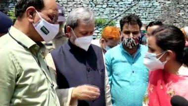 Uttarakhand Cloudburst: CM Tirath Singh Rawat Visits Tehri District's Devprayag To Assess The Situation