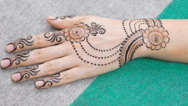 Eid al-Fitr 2021 Easy Mehndi Design Ideas: Latest Arabic Henna Patterns and Last-Minute Mehendi Designs for Both Front & Back Hands to Celebrate Badi Eid at Home (Watch DIY Videos)