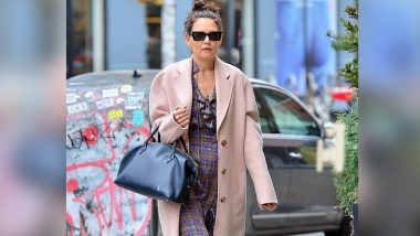 Katie Holmes Spotted in New York City Donning a Head-to-Toe Oversized Ensemble After Split With Emilio Vitolo Jr