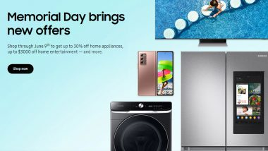 Memorial Day Sale 2021: Massive Discounts on Samsung Galaxy Z Fold 2, Galaxy Watch 3, 4K QLED TVs & Other Electronic Items