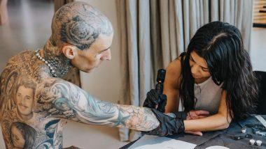 Kourtney Kardashian Inks 'I Love You' Tattoo on Boyfriend Travis Barker's Arm (Watch Video)