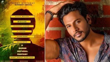 SK28: Birthday Boy Sundeep Kishan Collaborates With Filmmaker VI Anand for His Next!
