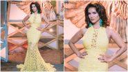 Yo or Hell No? Sunny Leone in a Yellow Saisha Shinde Gown for Splitsvilla Shooting
