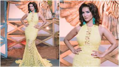 Yo or Hell No? Sunny Leone in a Yellow Saisha Shinde Gown for Splitsvilla Shooting