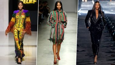 Naomi Campbell Birthday: A Look at Her Best Ramp Walk Looks of All Time (View Pics)