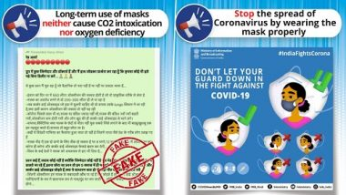 Using Face Masks for Long Time Causes Oxygen Deficiency and Intoxication of CO2 in the Body? Know Truth Behind the Fake Message