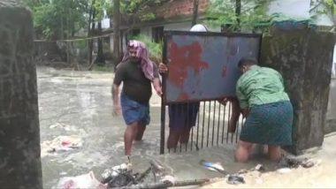 Cyclone Tauktae Brings Heavy Rainfall in Kerala, Coastal Areas Including Kollam, Alappuzha, Ernakulam, Kozhikode, Kannur Badly Affected