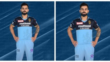 Virat Kohli's RCB to Wear Special Blue Jersey For IPL 2021 Match Against KKR, Will Raise Money for Oxygen Support Amid Covid Crisis