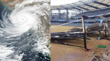 Cyclone Tauktae: Sightscreen at Wankhede Stadium Collapses, Gymkhanas at Marine Drive Flooded Due to Torrential Rain(See Pic)