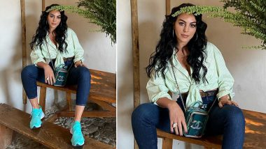 Georgina Rodriguez Looks Uber-Chic in White Placket Blouse Paired with Denim Pants; See Photos of Cristiano Ronaldo's Girlfriend
