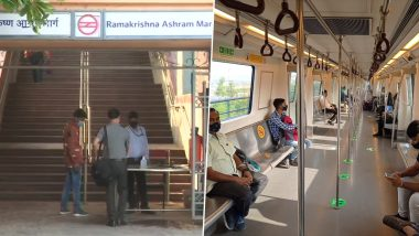 Delhi Unlock Update: Metro Services Reopen For Public With 50% Capacity After 1.5 Months of Lockdown
