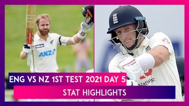 ENG vs NZ 1st Test 2021 Day 5 Stat Highlights: Series Opener Ends In A Draw