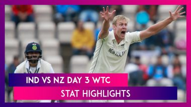 India vs New Zealand WTC Final Day 3 Stat Highlights: Kyle Jamieson Shines With Five-Wicket Haul