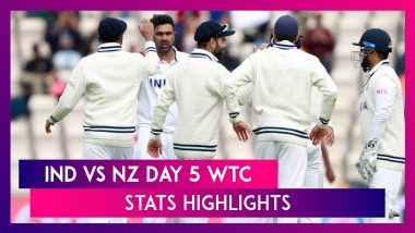 India vs New Zealand WTC Final Day 5 Stat Highlights: Mohammed Shami Shines With Four-Wicket Haul