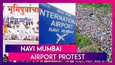 Navi Mumbai Airport Protest: Protesters Demand Naming Of The Airport After Activist D B Patil