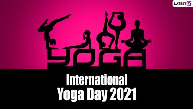 International Yoga Day 2021 Quotes & HD Images: WhatsApp Stickers, GIF Greetings, Facebook Status and Messages To Celebrate Yoga Day on June 21