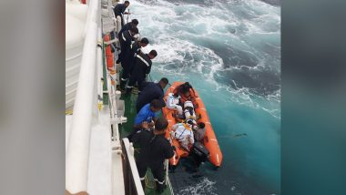 Indian Coast Guard Rescues Nine Crew From Sinking Vessel Ganga-I Off Cinque Island