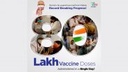 COVID-19 Vaccination Update: India Records Highest Coronavirus Vaccination In A Day, Over 80 Lakh Doses Administered On Monday; Check State-Wise Details
