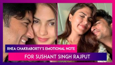 Sushant Singh Rajput First Death Anniversary: Rhea Chakraborty Says 'Please Come Back' In Emotional Note