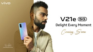 Vivo V21e 5G Smartphone Officially Teased; Likely To Be Launched in India Next Week