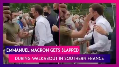 Emmanuel Macron Gets Slapped During Walkabout In Southern France; Act Caught On Camera