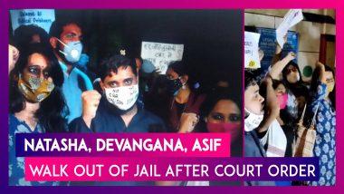 Natasha Narwal, Devangana Kalita, Asif Iqbal Tanha Walk Out Of Jail After Court Order