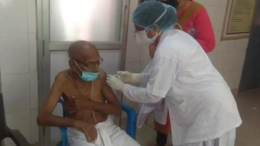 Varanasi: 125-Year-Old, Swami Shivanand, Takes COVID-19 Vaccine Jab in Durga Kund