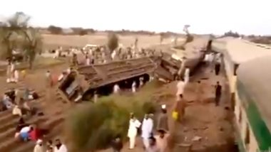Pakistan Train Accident: 36 Killed, 50 Others Injured After Two Passenger Trains Collide in Sindh Province (Watch Video)