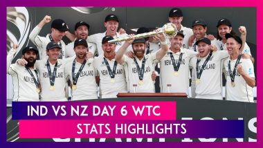 India vs New Zealand WTC Final Day 6 Stat Highlights: NZ Are Inaugural World Test Champions