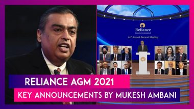 Reliance AGM 2021: JioPhone Next, Aramco Deal & Other Key Announcements By Mukesh Ambani