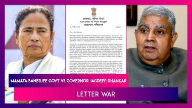 Mamata Banerjee Government Versus Governor Jagdeep Dhankar: Letter War