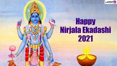 Happy Nirjala Ekadashi 2021 Wishes & HD Images: WhatsApp Messages, SMS, Lord Vishnu Photos and Greetings to Share With Your Family and Friends