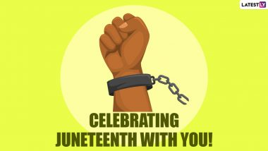 Juneteenth 2021 Images & HD Wallpapers for Free Download Online: Wish Happy Juneteenth Day or Freedom Day With WhatsApp Messages, GIF Greetings and Quotes