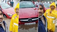 Mumbai Police Rescues Two Female Passengers and Driver from Mercedes Car stuck in 4 Feet Water; Calls Their Effort 'A Class Apart'